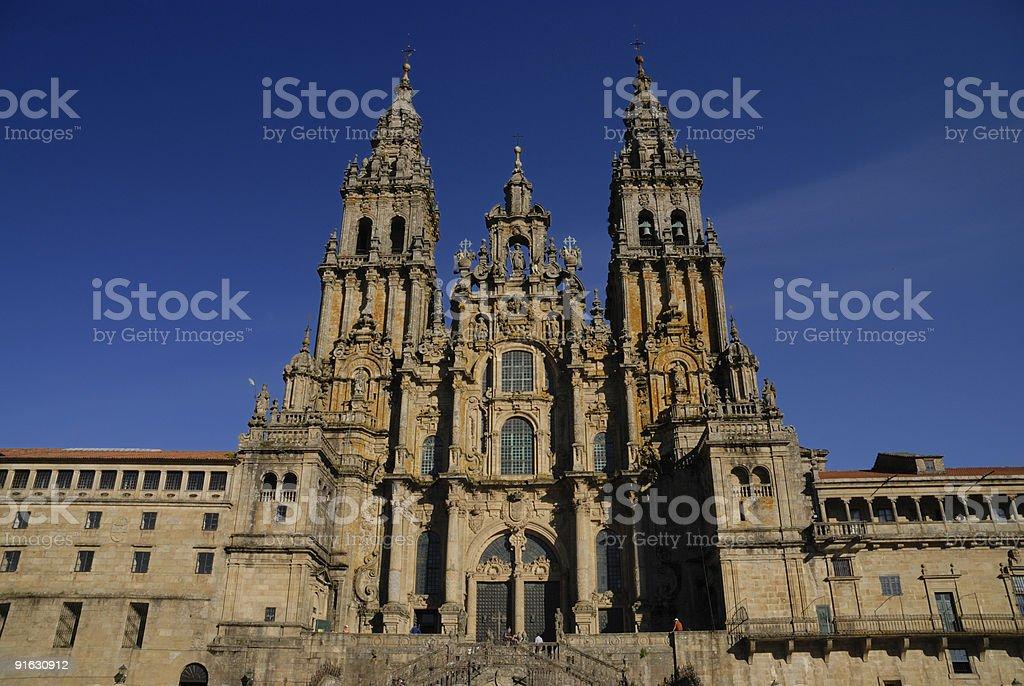Kathedrale Santiago de Compostella stock photo