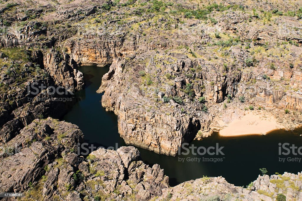 Katherine Gorge from the Air stock photo