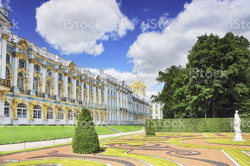 Katherine's Palace hall in Tsarskoe Selo stock photo