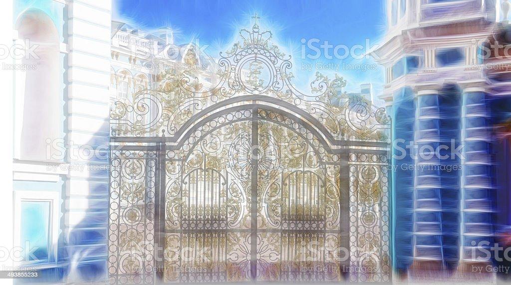 Katherine's Palace in Tsarskoe Selo (Pushkin), Russia royalty-free stock photo