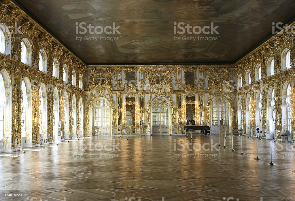 Katherines Palace, Pushkin, Russia stock photo