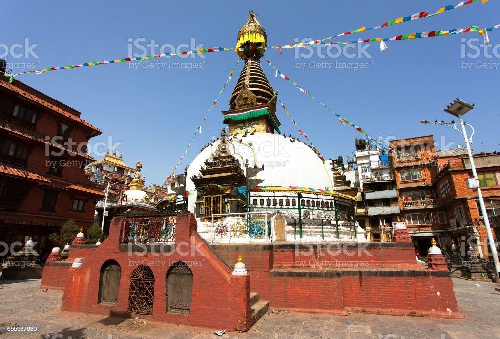 Kathesimbhu stupa, Kathmandu city, Nepal stock photo