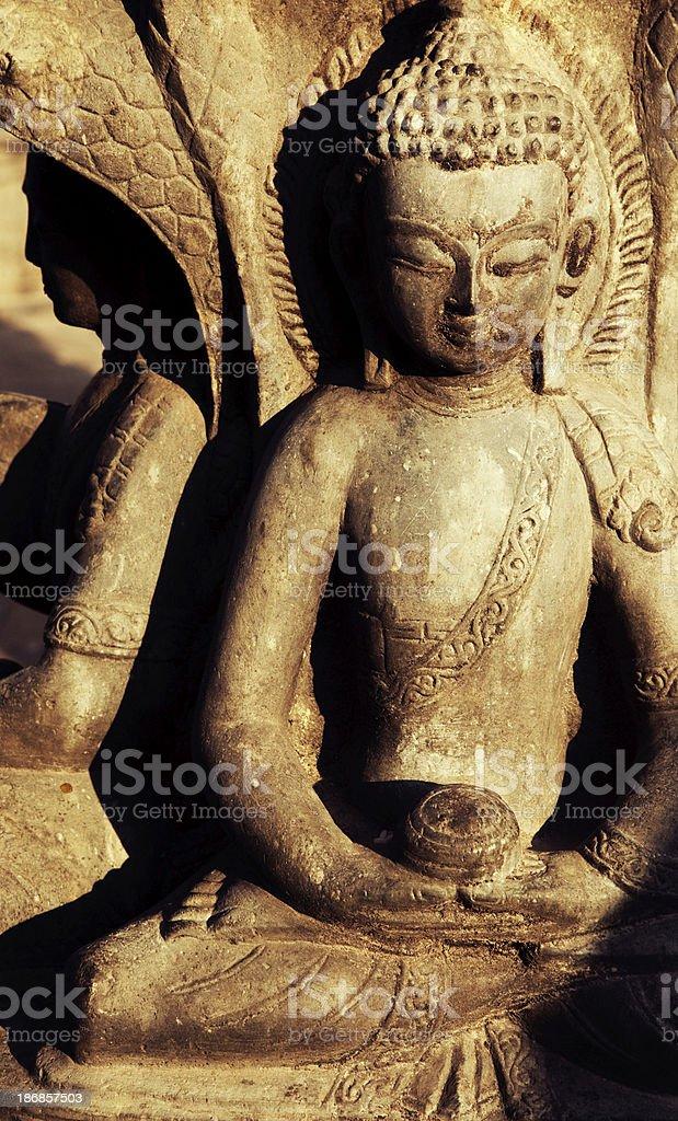 Kathmandu - Buddha Statues royalty-free stock photo