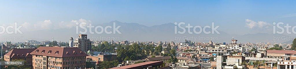 Kathmandu city rooftop urban panorama Nepal Asia royalty-free stock photo