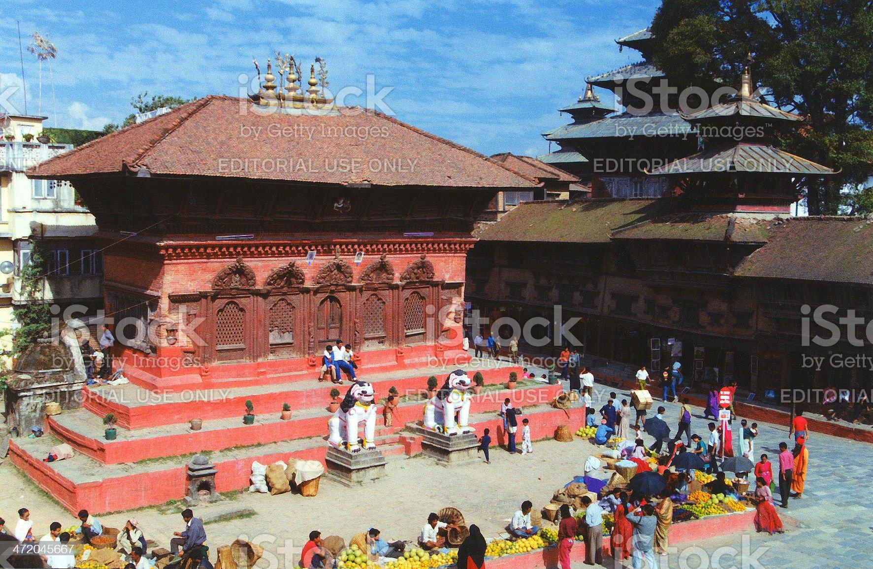 Kathmandu Durbar Square, Nepal royalty-free stock photo