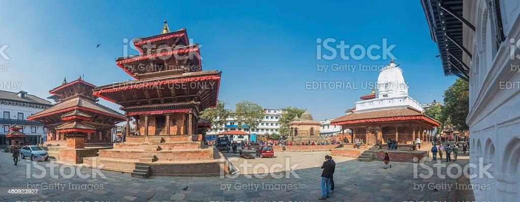 Kathmandu Durbar Square panorama UNESCO World Heritage Site landmark Nepal royalty-free stock photo