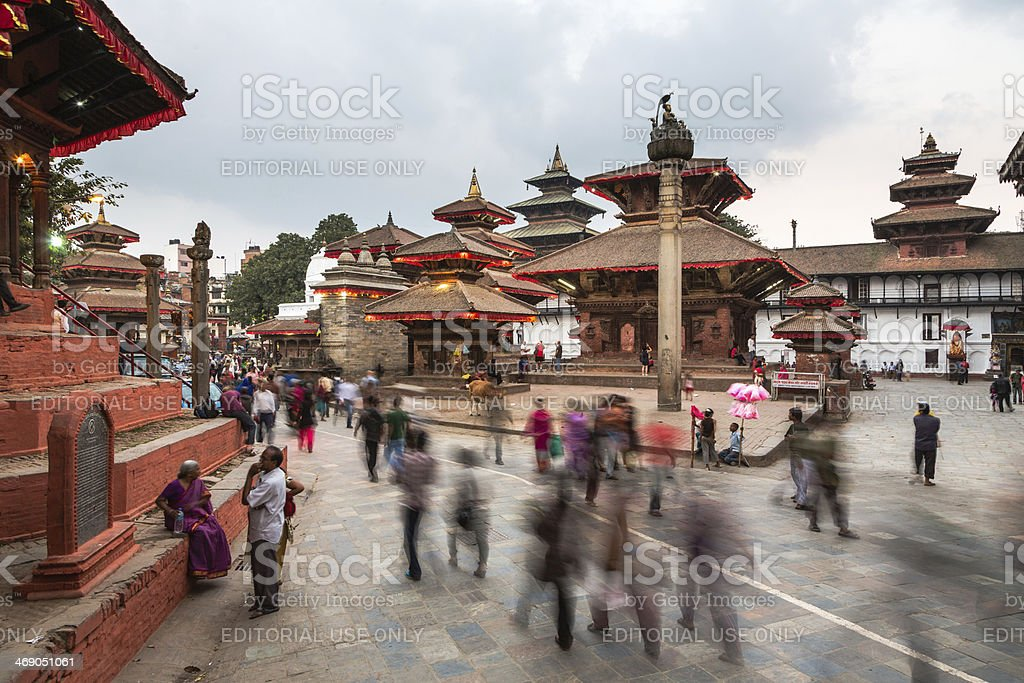 Kathmandu Durbar Square stock photo