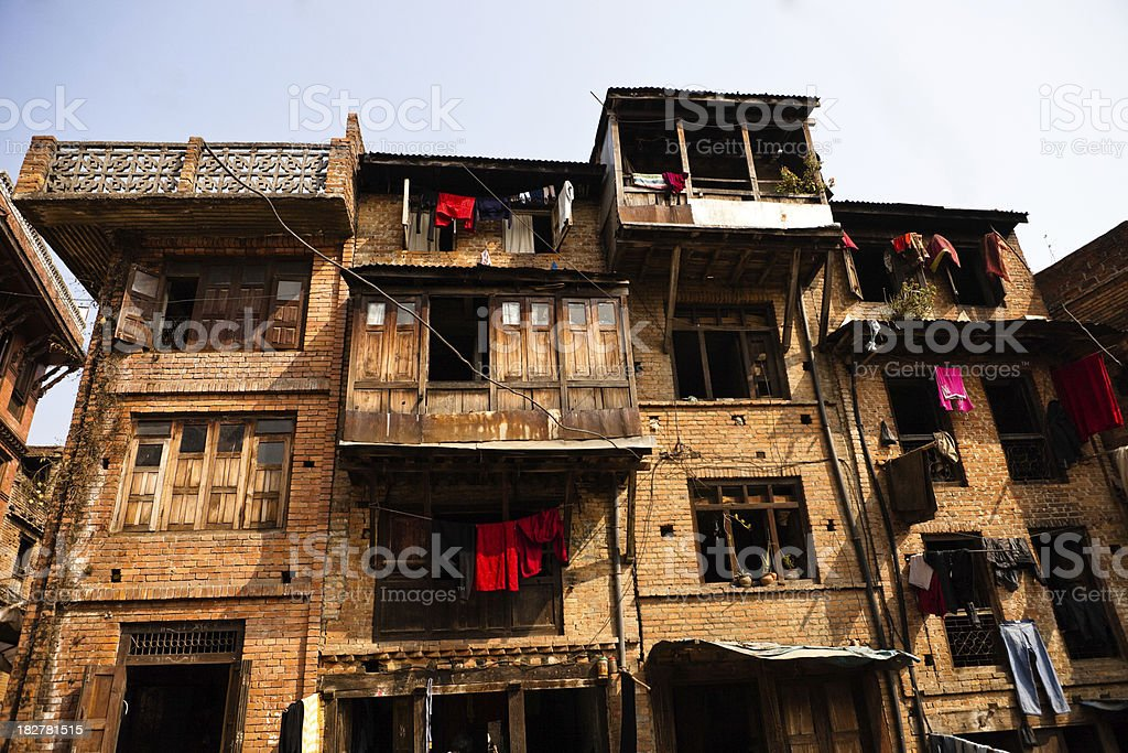 kathmandu houses stock photo