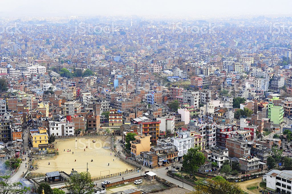 kathmandu metropolis stock photo