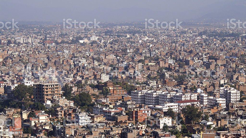 Kathmandu Panorama, Nepal royalty-free stock photo