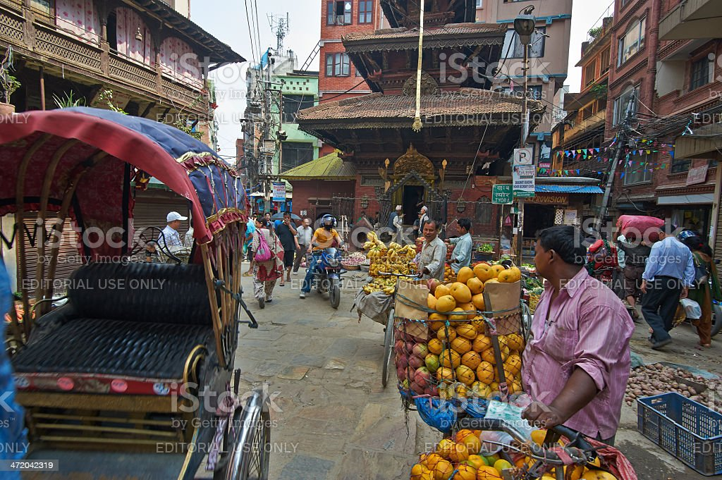 Kathmandu street royalty-free stock photo