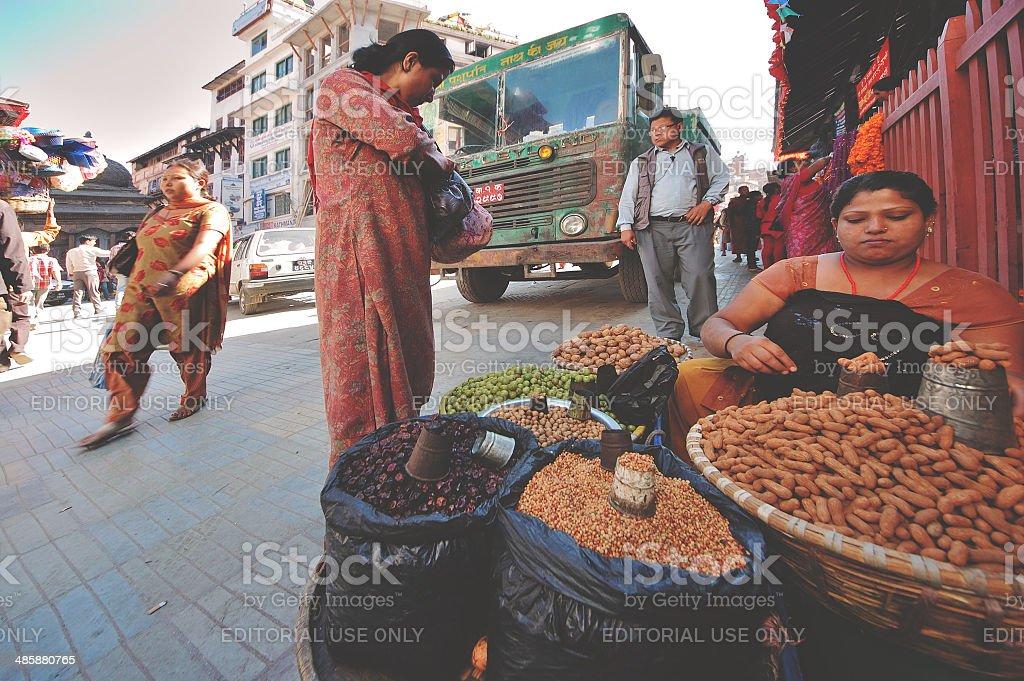 Kathmandu street view royalty-free stock photo