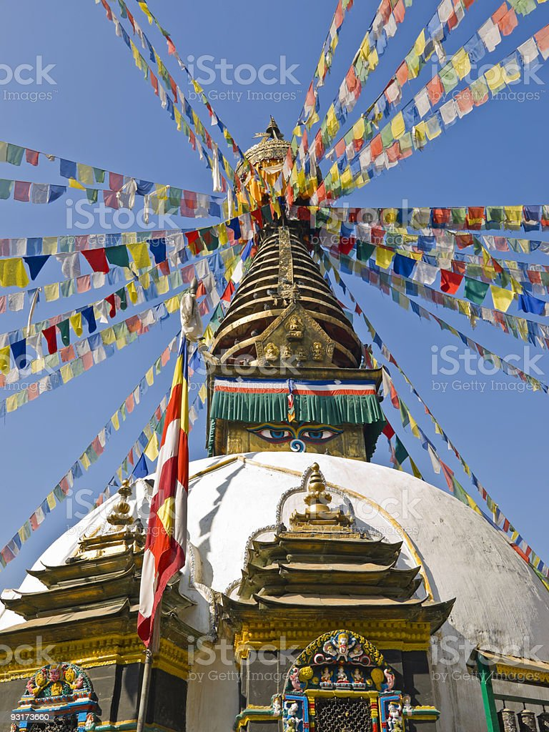 Kathmandu temple royalty-free stock photo