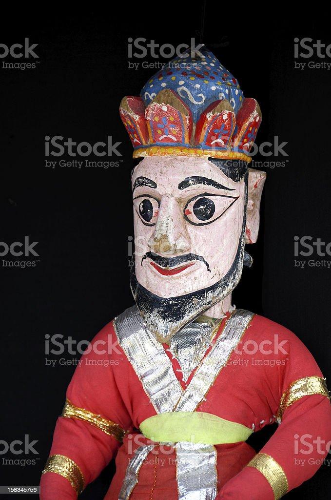 kathputli wood puppet, India stock photo
