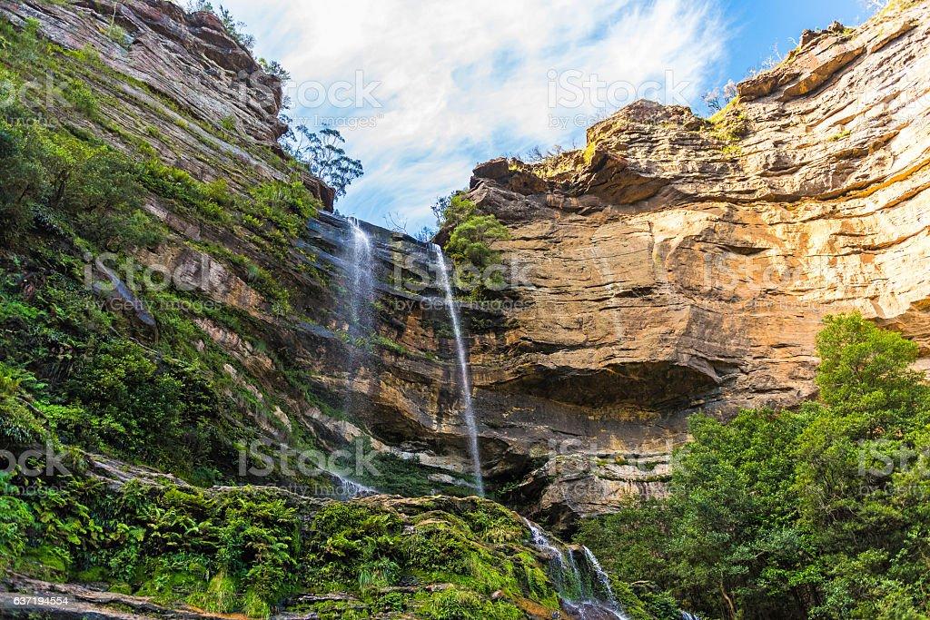 Katoomba Falls, Blue Mountains National Park in Australia stock photo