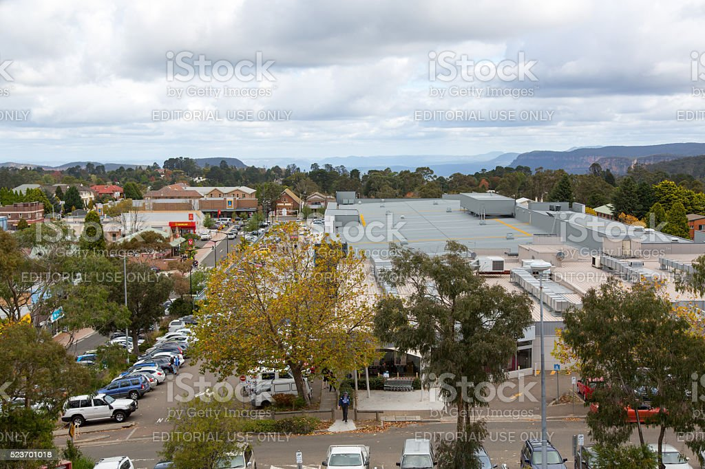 Katoomba Rooftops stock photo