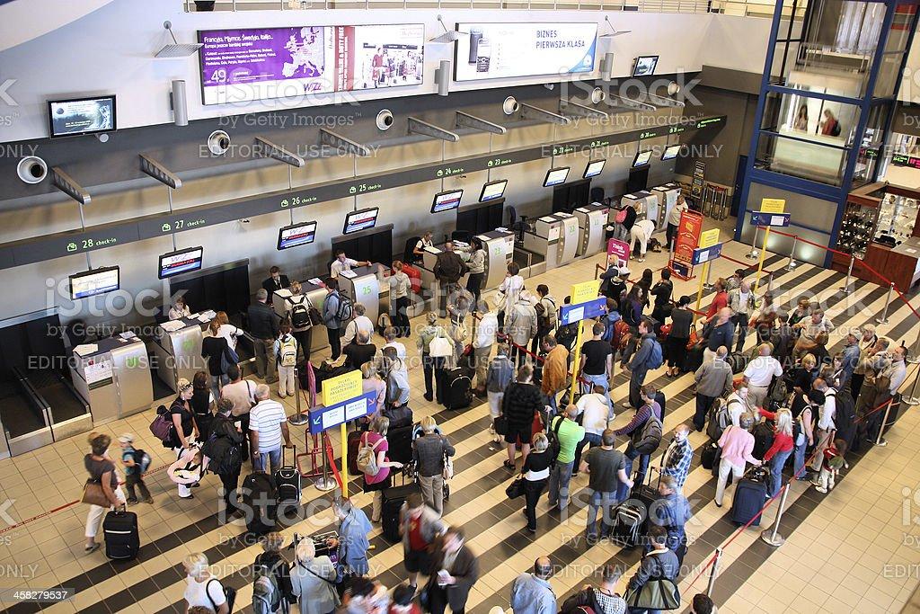 Katowice Airport stock photo