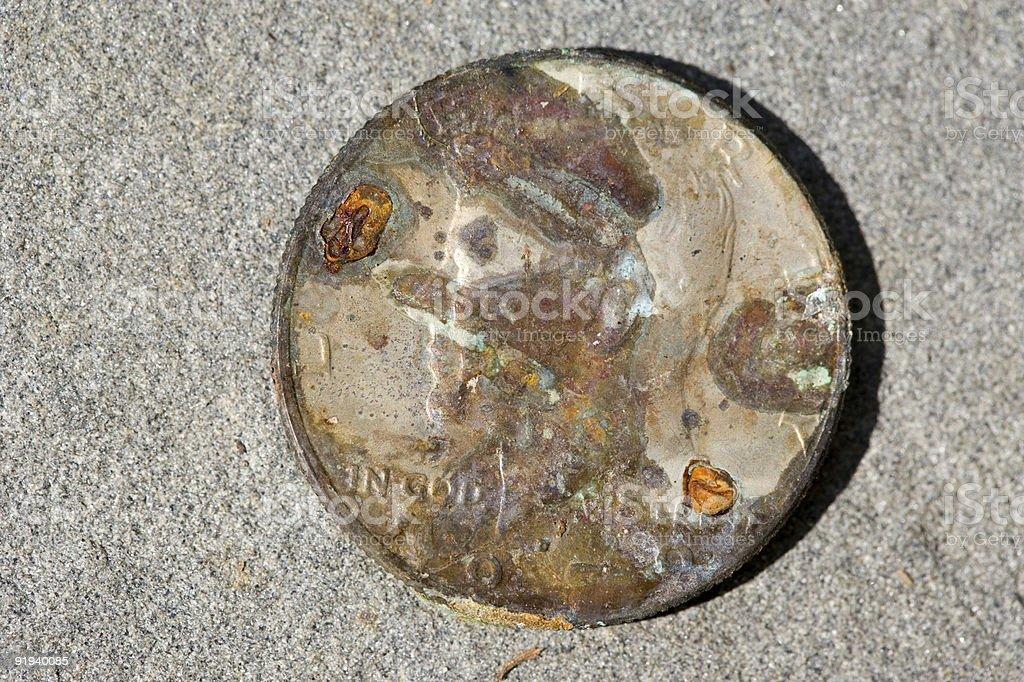 Katrina coin front stock photo