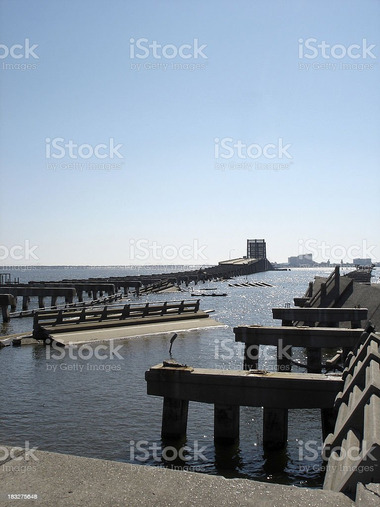 Katrina destruction II stock photo