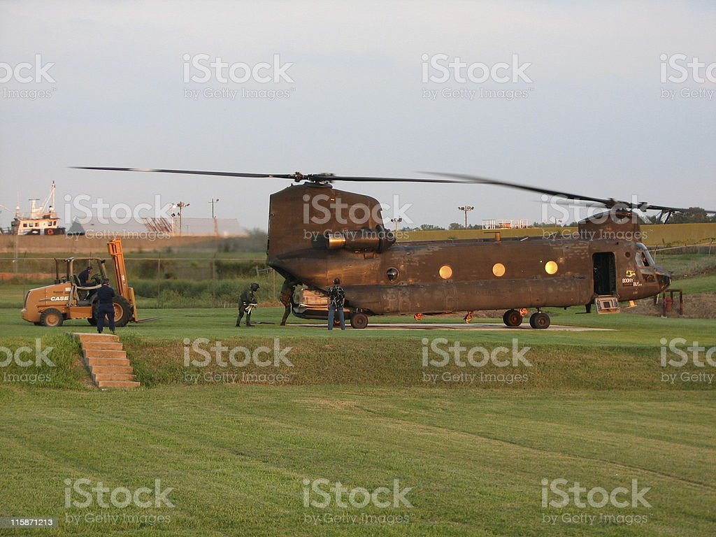 Katrina Relief Effort in New Orleans stock photo
