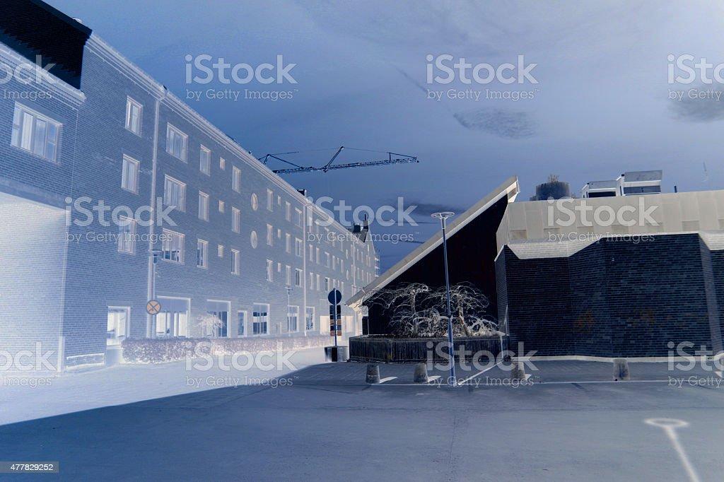 Katrineholm city view stock photo