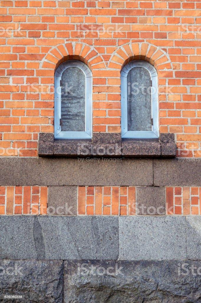 Katrineholms Water Tower lower level windows stock photo