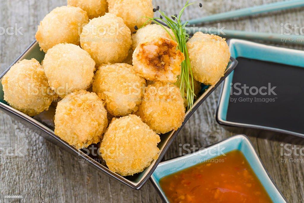 Katsu Chicken Balls stock photo