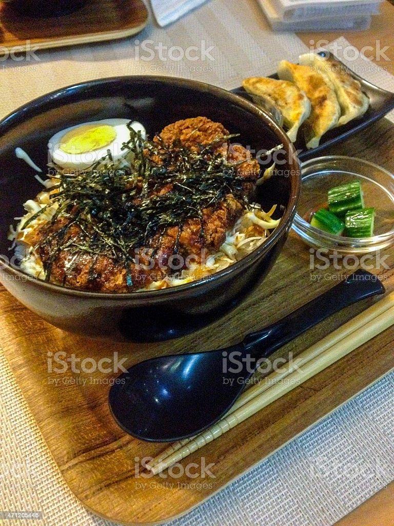 Katsudon stock photo