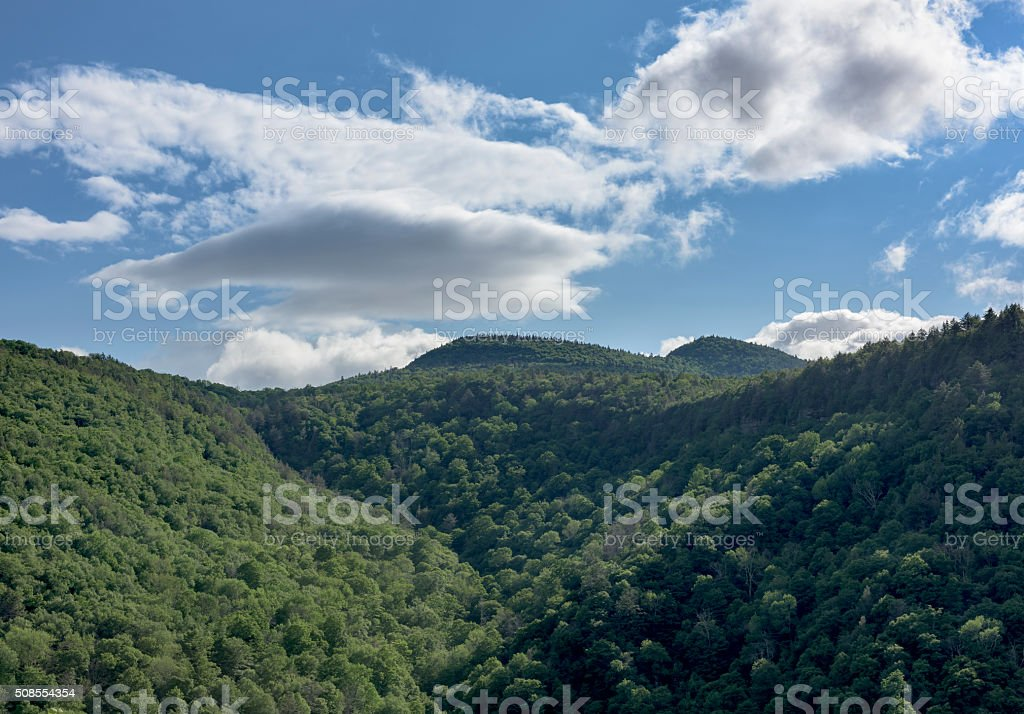 Katterskill Clove and Mountains of New York stock photo