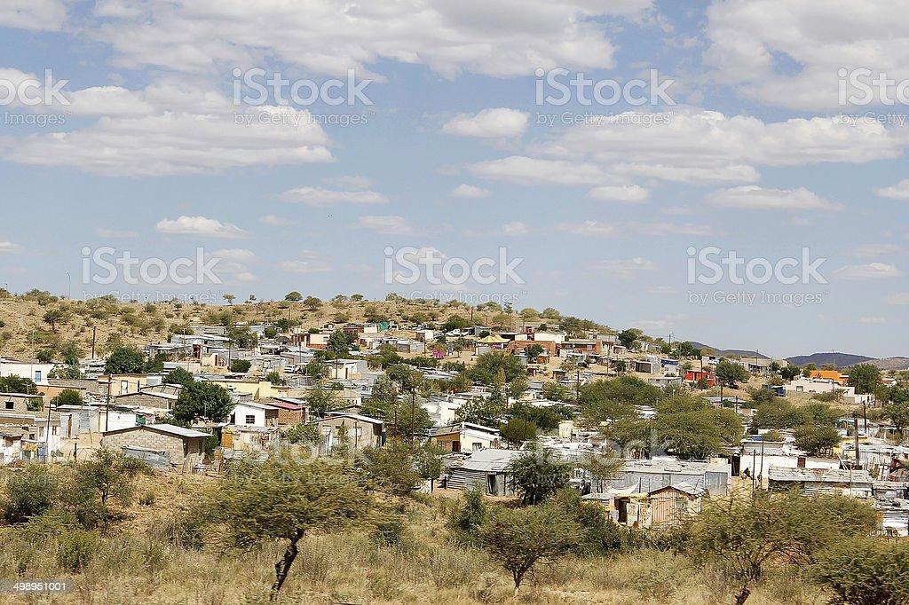 Katutura townhip in Windhoek, Namibia stock photo