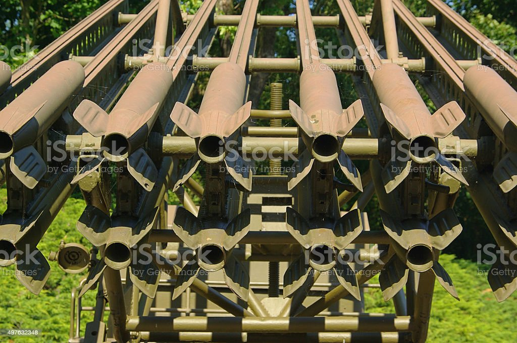 Katyusha rocket launcher stock photo