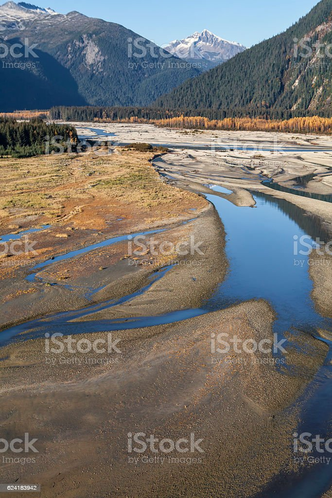 Katzehin river aerial stock photo