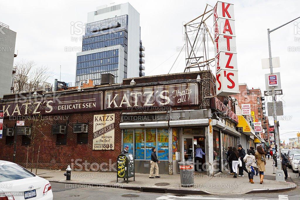 Katz's Delicatessen Lower East Side Manhattan stock photo