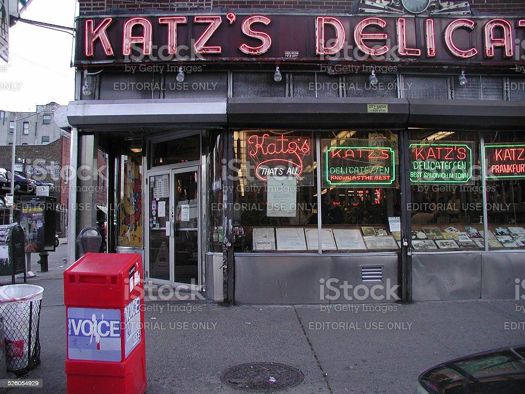 Katz's Delicatessen NYC Photo 2003 stock photo