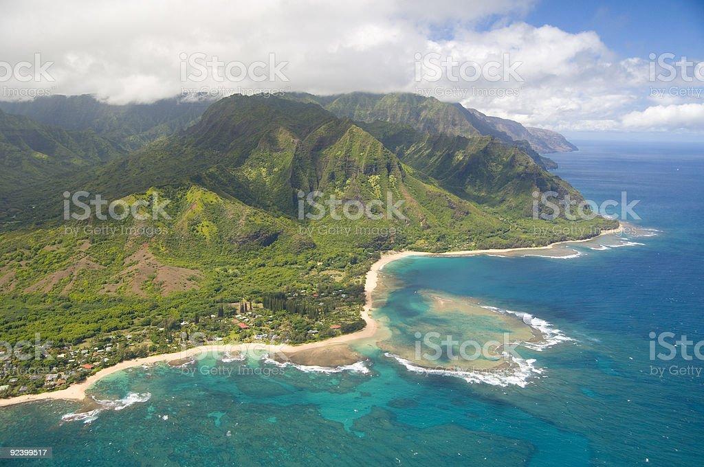 Kauai aerial view royalty-free stock photo