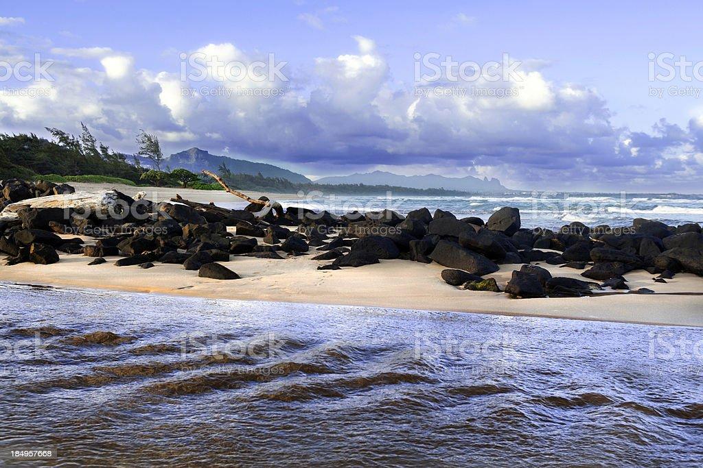 Kauai Beach Sandbar royalty-free stock photo