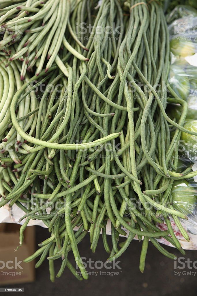 Kauai: Chinese Long Beans royalty-free stock photo