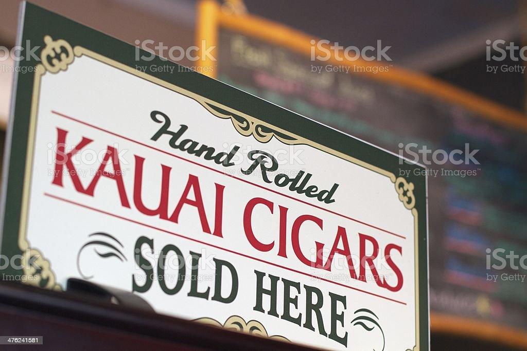 Kauai Cigars royalty-free stock photo