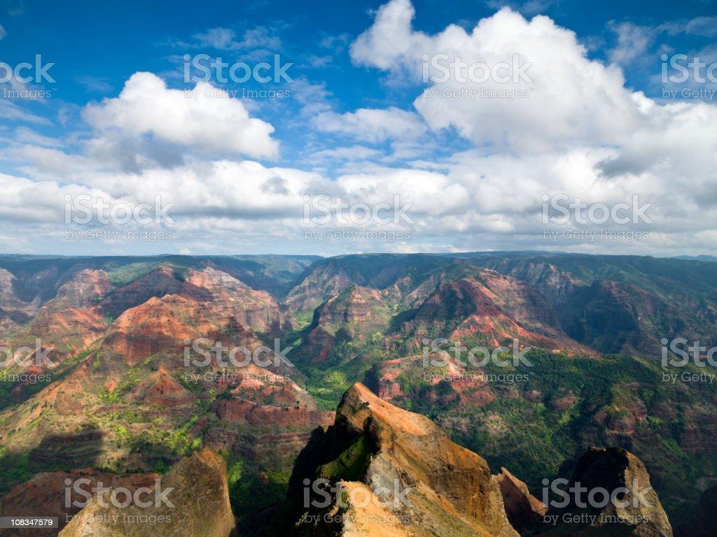Kauai Island Waimea Canyon View Hawaii stock photo
