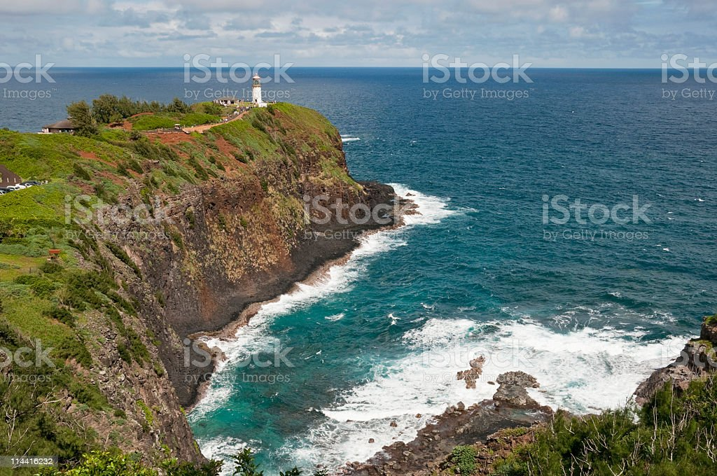 Kauai Lighthouse stock photo