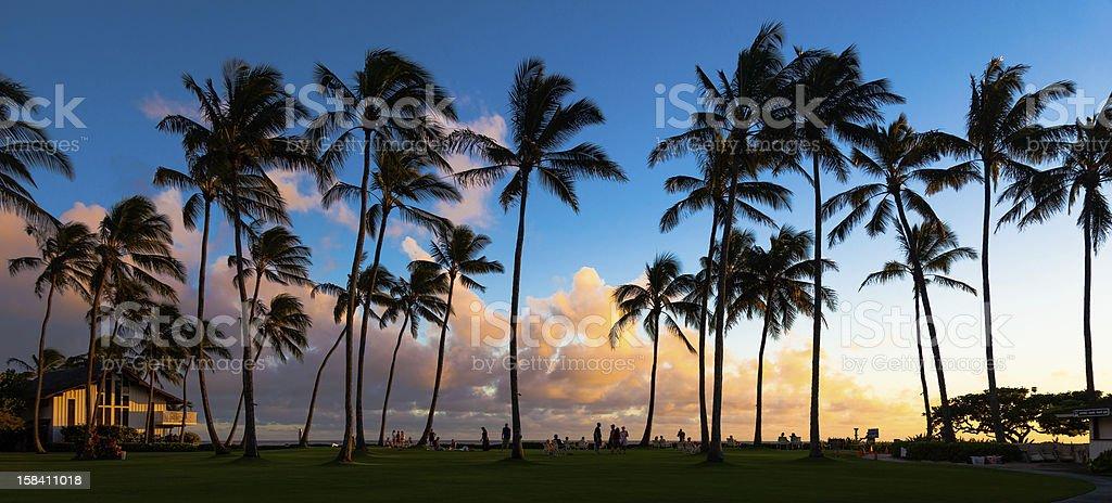 Kauai Sunset stock photo