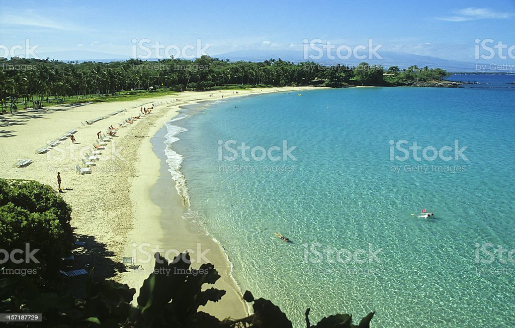 Kauna`oa Bay, Big Island stock photo