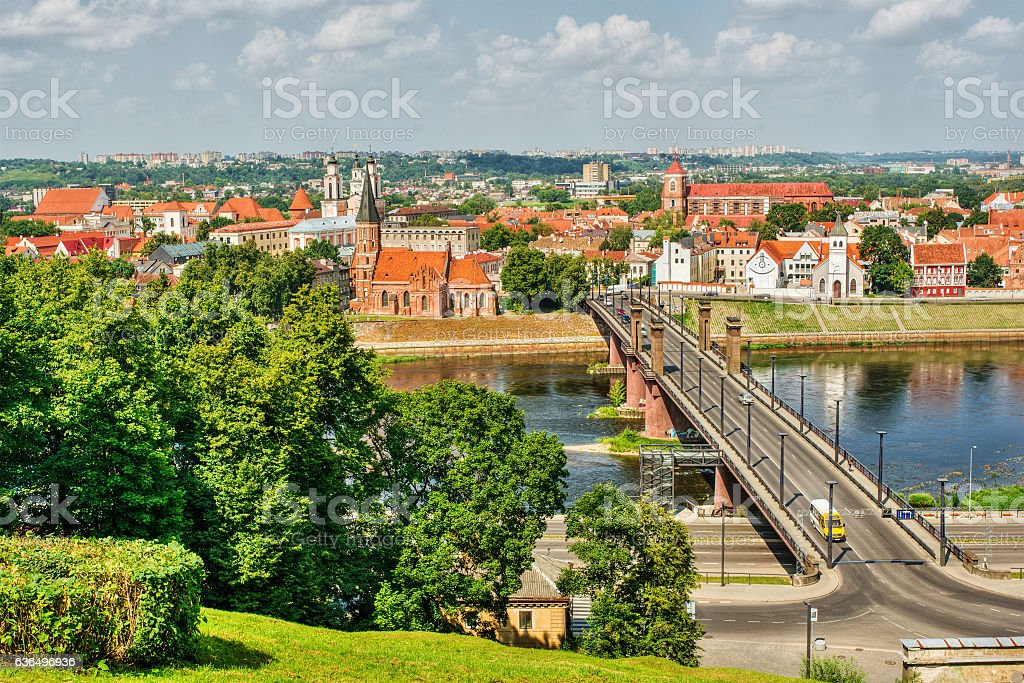 Kaunas HDR stock photo