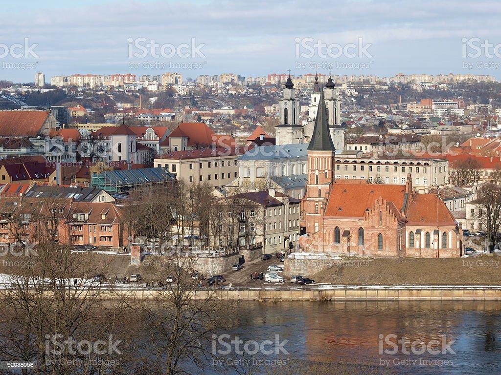 Kaunas, old town royalty-free stock photo