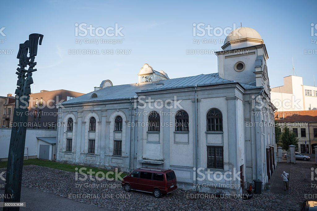 Kaunas Synagogue in Kaunas, Lithuania stock photo