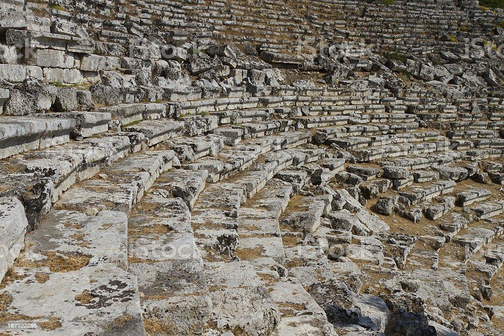Kaunos amphitheatre stock photo