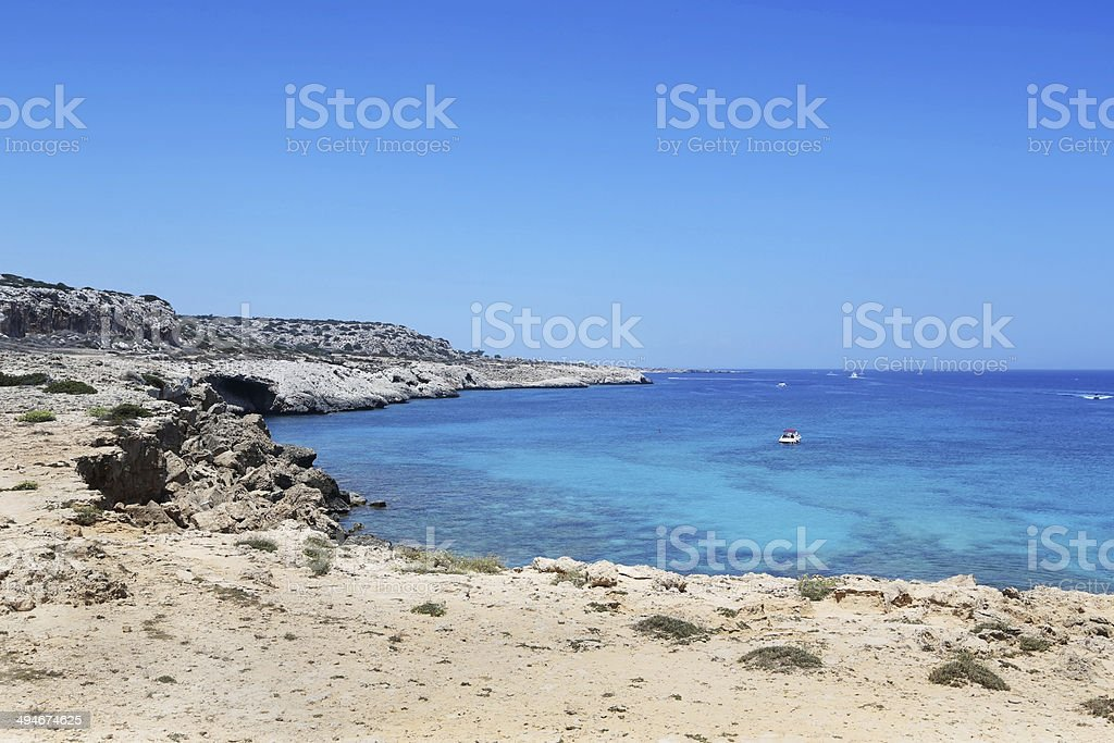 Kavo Greko cape in Cyprus stock photo