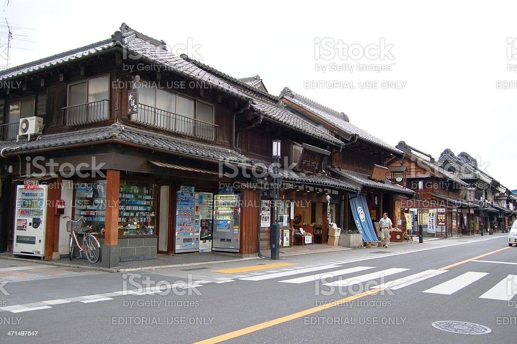 Kawagoe in Saitama Prefecture, Japan royalty-free stock photo