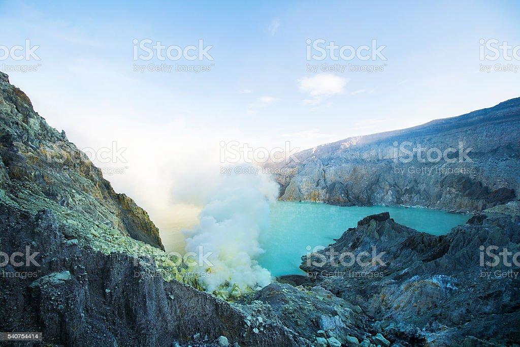 Kawah Ijen Volcano stock photo