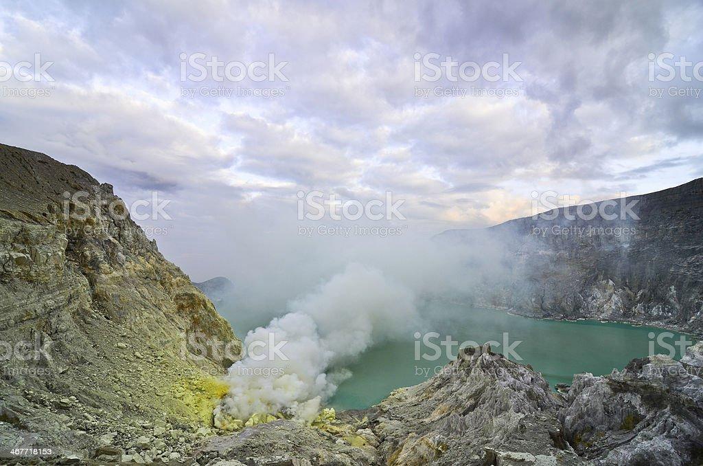 Kawah Ijen Volcano,Java island royalty-free stock photo